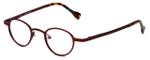 Cinzia Designer Eyeglasses Editorial 03 in Red 39mm :: Progressive
