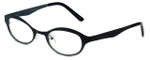 Cinzia Designer Reading Glasses Splendid C1 in Black Sage 46mm