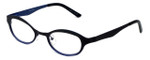 Cinzia Designer Reading Glasses Splendid C2 in Black Blue 46mm