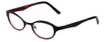 Cinzia Designer Reading Glasses Splendid C3 in Black Red 46mm
