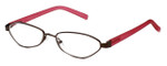 Cinzia Designer Reading Glasses Trendies Chilly C1 in Bronze Pink 50mm