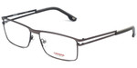 Carrera Designer Eyeglasses CA7580-FRK in Gunmetal Black 55mm :: Rx Single Vision