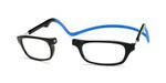 Clic Compact Eyeglasses in Black Frame with Blue Headband Custom