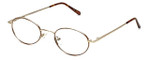 MetalFlex Designer Eyeglasses Model M in Gold-Demi-Amber 46mm :: Rx Single Vision