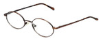 MetalFlex Designer Eyeglasses Model S in Ant-Brown 48mm :: Rx Single Vision