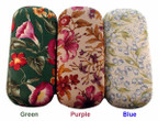 Designer Floral Fabric Hard Eyeglass Case HC-4