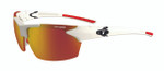 Tifosi High Performance Sunglasses Jet in Matte-White & Smoke Red Lens