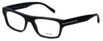 Prada Designer Eyeglasses VPR18R-TV61O1 in Brushed-Brown 53mm :: Rx Single Vision