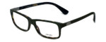 Prada Designer Eyeglasses VPR06S-UBF1O1 in Matte-Green 54mm :: Progressive