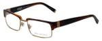 John Varvatos Designer Eyeglasses V137 in Brown-Horn 52mm :: Progressive