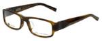 John Varvatos Designer Eyeglasses V341AF in Olive-Horn 53mm :: Progressive