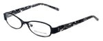Jones New York Designer Eyeglasses J120 in Black 49mm :: Custom Left & Right Lens