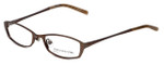 Jones New York Designer Eyeglasses J122 in Brown 49mm :: Custom Left & Right Lens