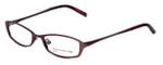 Jones New York Designer Eyeglasses J122 in Wine 49mm :: Custom Left & Right Lens
