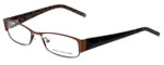 Jones New York Designer Eyeglasses J446 in Brown 52mm :: Rx Single Vision