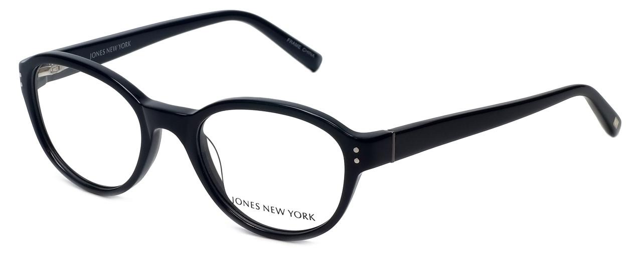 Designer Glasses Frames New York : Jones New York Designer Eyeglasses J752 in Black 49mm ...