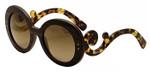 Prada Designer Sunglasses PR27NS-UBT0A7 in Ebony-Malabar & Amber Gradient Lens