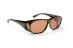Haven Designer Fitover Sunglasses Meridian in Tortoise & Polarized Amber Lens (MEDIUM)