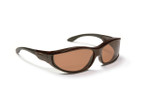 Haven Designer Fitover Sunglasses Tolosa in Tortoise & Polarized Amber Lens (MEDIUM)