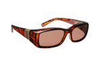 Haven Designer Fitover Sunglasses Freesia in Tortoise with Leather & Polarized Amber Lens (MEDIUM)