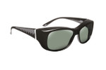 Haven Designer Fitover Sunglasses Morgan in Black & Polarized Grey Lens (MEDIUM/LARGE)