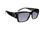 Haven Designer Fitover Sunglasses Stella in Black Chevron & Polarized Grey Lens (MEDIUM/LARGE)