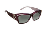 Haven Designer Fitover Sunglasses Stella in Purple Chevron & Polarized Grey Lens (MEDIUM/LARGE)
