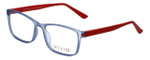 Calabria Viv Designer Eyeglasses 241 in Blue-Red 53mm :: Rx Single Vision