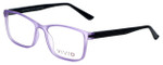 Calabria Viv Designer Eyeglasses 241 in Purple-Black 53mm :: Rx Single Vision