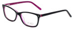 Calabria Viv Designer Eyeglasses 869 in Black-Purple 51mm :: Rx Single Vision