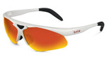 Bollé Designer Sunglasses: Vigilante in White with TNS Fire Mirror Lens