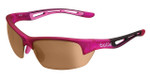 Bollé Golf Sunglasses: Bolt in Satin Crystal Pink with Modulator V3 Golf Oleo AF Lens