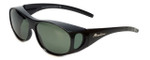 Montana Designer Fitover Sunglasses F01D in Gloss Black & Polarized G15 Green Lens
