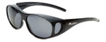 Montana Designer Fitover Sunglasses F01E in Gloss Black & Polarized Grey Lens