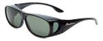 Montana Designer Fitover Sunglasses F02D in Gloss Black & Polarized G15 Green Lens