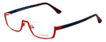 Eyefunc Designer Eyeglasses 591-44 in Red & Blue 52mm :: Custom Left & Right Lens
