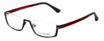 Eyefunc Designer Eyeglasses 591-54 in Grey & Red 52mm :: Custom Left & Right Lens