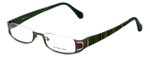 Eyefunc Designer Eyeglasses 327-72 in Green Glitter 50mm :: Rx Single Vision