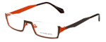 Eyefunc Designer Eyeglasses 530-18 in Brown & Orange 50mm :: Rx Single Vision