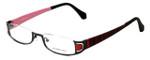 Eyefunc Designer Eyeglasses 327-69 in Red Glitter 50mm :: Rx Bi-Focal