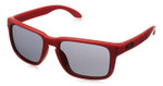 Oakley Designer Sunglasses Holbrook OO9102-83 in Matte-Red & Grey Lens