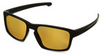 Oakley Designer Polarized Sunglasses Sliver OO9262-08 in Matte-Black & Bronze Lens