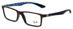 Ray-Ban Designer Eyeglasses RX8901-5612 in Brown 53mm :: Rx Single Vision