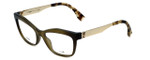 Fendi Designer Eyeglasses FF0050-MOK in Green Gold 53mm :: Custom Left & Right Lens