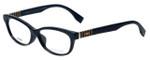 Fendi Designer Eyeglasses FF0072F-7SY in Black 53mm :: Progressive