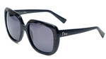 Christian Dior Designer Sunglasses Taffetas-648 in Black 56mm