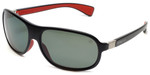 TAG Heuer Legend Designer Polarized Sunglasses TH9301-102 in Black/Red & Grey