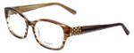 Vera Wang Designer Eyeglasses Evocative in Nude-Horn 52mm :: Custom Left & Right Lens