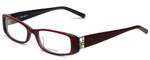 Vera Wang Designer Eyeglasses V355 in Burgundy 53mm :: Progressive