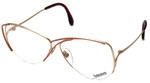 Rodenstock Designer Reading Glasses 828 in Gold/Red 59mm